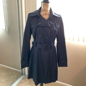 Express navy trench coat.